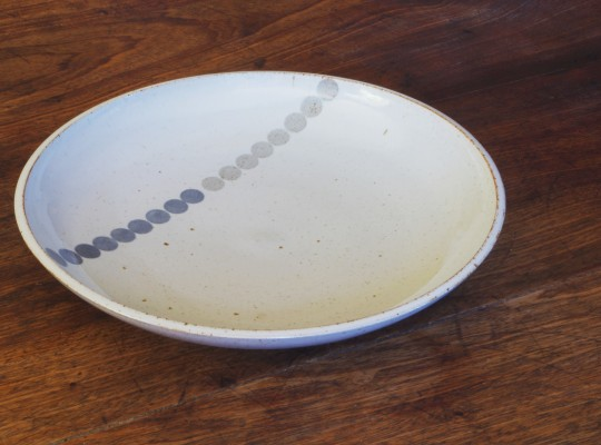 large shallow bowl